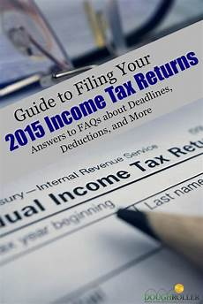 guide to filing your 2015 income taxes