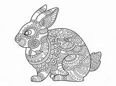 zentangle bunny mandala coloring page 02 12 19 mandala