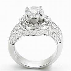 womens 925 sterling silver diamond cut wedding engagement