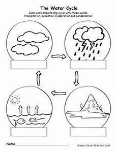 earth science water cycle worksheets 13266 a splash water cyce