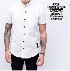 jual baju kemeja pria kemeja lengan pendek putih koko kerah shanghai di lapak cosmetikmall