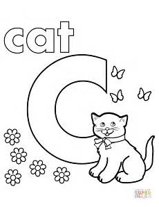 letter c worksheets coloring 24041 c is for cat coloring page free printable coloring pages