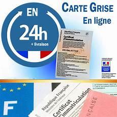 carte grise en ligne certificat d immatriculation en