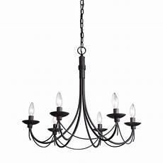 progress lighting greyson collection 6 light black chandelier p3577 31 the home depot
