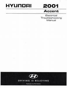 2001 hyundai accent wiring diagram 2001 hyundai accent oem wiring diagrams electrical trouble shooting manual b054a ebay
