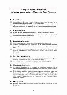 openfund term sheet template