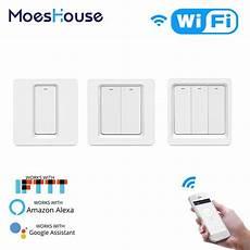 Moeshouse Wifi Smart Push Button Switch by Wifi Smart Light Switch Push Button Smart Tuya App