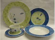 COVENTRY CHINA DINNERWARE SET of BLUE BUTTERFLY, 40 piece
