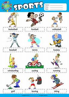 sports worksheets kindergarten 15816 sports picture dictionary esl vocabulary worksheet