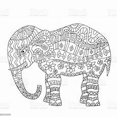 elephant coloring page stock vector more
