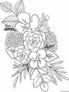 hydrangea coloring page drawings coloring pages