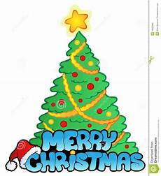 merry christmas sign with tree royalty free image 16922985