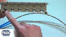 the tsoc minute how to terminate a 6 port rj45 bix 46di modular distribution connector youtube