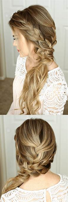 Braided Formal Hairstyles braided side swept prom hairstyle sue