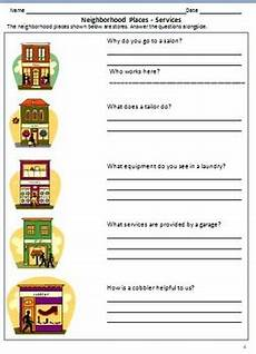 worksheets on our neighbourhood for grade 2 my neighborhood worksheets for grade 2 3 by rituparna