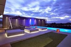 eclairage terrasse piscine casas minimalistas y modernas piscinas minimalistas en