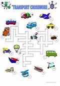 Transport Crossword Worksheet  Free ESL Printable