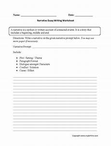 narrative essay writing worksheets
