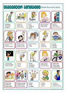 classroom language multiple choice english esl worksheets for distance learning and physical