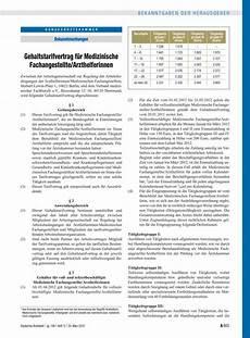 tarifvertrag zahnmedizinische fachangestellte deutsches 196 rzteblatt gehaltstarifvertrag f 252 r medizinische