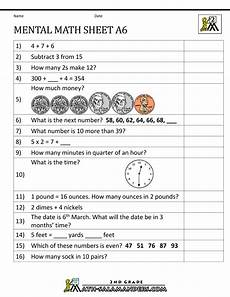 mental math worksheets 2nd a6 math ideas worksheets