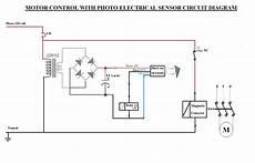 motor circuits photo electric sensor motor control circuit