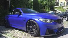 Matte Blue Bmw M4 On Mbdesign Wheels