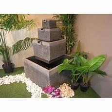 fontaine de terrasse fontaine de jardin terrasse carr 233 4 coupes noir gris