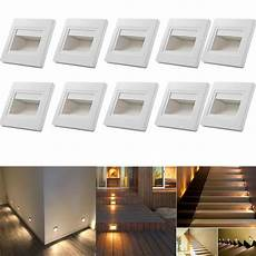 10 0 6w warm white led wall recessed stair step lights