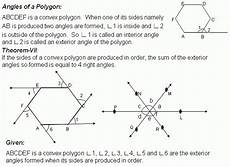 theorem sum of the exterior angles of a convex polygon middle high school algebra geometry