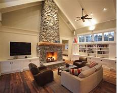 Ideas Next To Fireplace by Tv Mounted Next To Fireplace Ideas If House Has