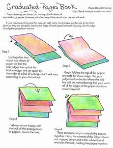 How To Make A Graduated Pages Book Book Binding