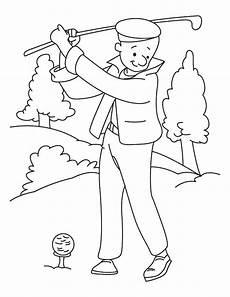 golf coloring pages at getcolorings free printable