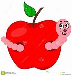 Ausmalbilder Apfel Mit Wurm Ein Wurm Der Einen Apfel Isst Stock Abbildung Bild