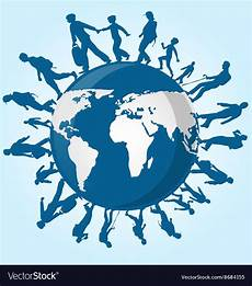 immigration people on world map royalty free vector image