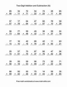 adding and subtracting worksheets for grade 1 10444 the adding and subtracting two digit numbers a math worksheet from the subtraction