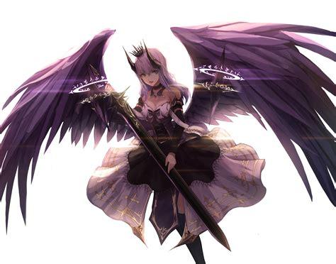 Anime Fallen Angel Girl