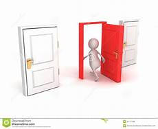 open up that door and walk right in my house lyrics 3d man make right choice walk through red door stock illustration image 41117188