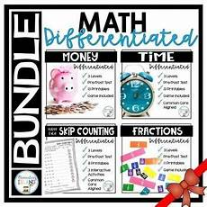 time worksheets differentiated 2965 math bundle differentiated time activities fractions money skip counting skip counting