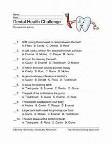 dental health challenge worksheet for 4th 5th grade lesson planet