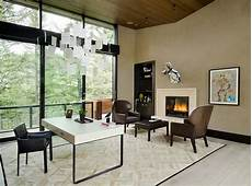 Modern Home Office - 40 gorgeous ideas for a sizzling home office with fireplace