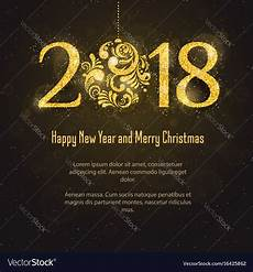 2018 happy new year and merry christmas royalty free vector