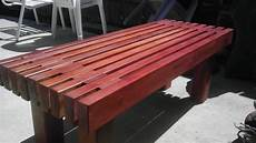 diy redwood garden bench