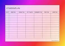 papiervorlage zum ausdrucken stundenplan 12