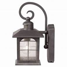 home decorators collection brimfield 220 176 1 light aged iron motion sensing outdoor wall lantern