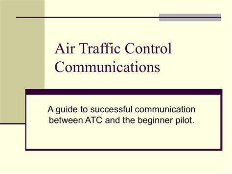 Communication Between Atc And Pilot