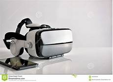 Reality Smartphone Glasses by Reality Glasses With Smartphone Side View Stock