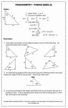 geometry math worksheets for high school 814 free high school math worksheet from funmaths math worksheet trigonometry worksheets