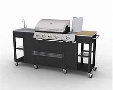 Barbecue Complet Inox Incorpor 233 Dans Un Meuble De Cuisine