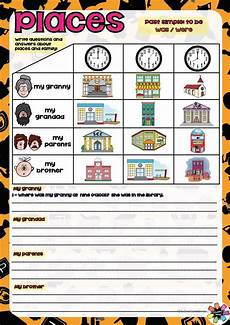 places in town with was were worksheet free esl printable worksheets made by teachers